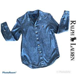 (Boys) Ralph Lauren Denim Buttoned Shirt